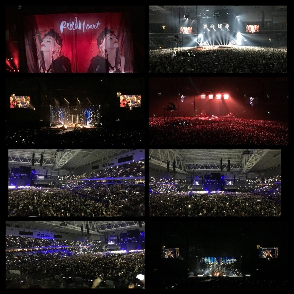 Mycket, mycket bra show med Madonna i Tele2 Arena i kväll! 👍😄