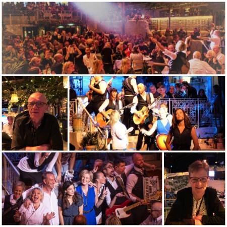a27f5d97c I dag har vi varit på eftermiddagsföreställningen av Mamma Mia The Party på  Tyrol. Fyra timmar med underhållning och trerätters grekisk middag.